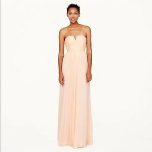J crew Nadia strapless bridesmaid dress